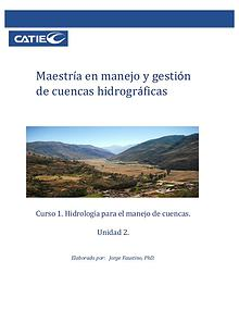Unidad 2 - Curso: Hidrologia para el manejo de cuencas hidrográficas