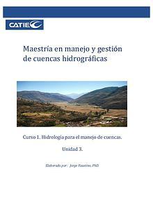 Unidad 3. Curso: Hidrología para el manejo de cuencas