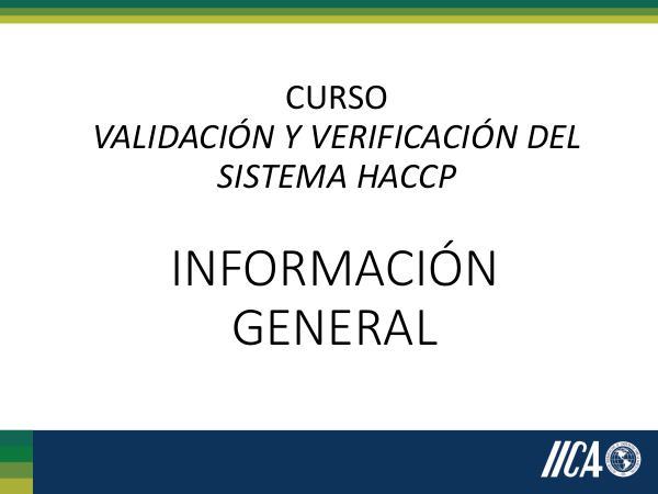 Información General HACCP IGHACCP