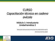 CA-M1UT2  Capacitación técnica en cadena Avícola