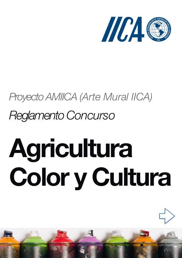 Reglamento Concurso: Agricultura Color y Cultura Reglamento Mural IICA  PDF