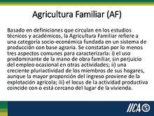 Agricultura familiar y poscosecha