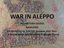 War in Aleppo: a children letter exchange exhibition