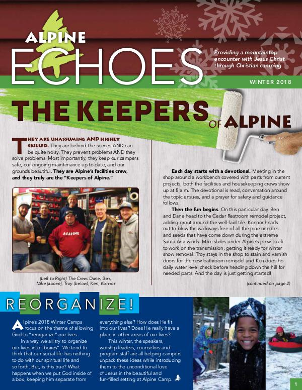Alpine Echoes ECHOES News Jan 2018_Web