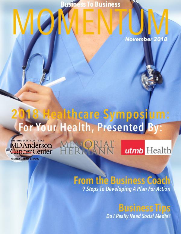Momentum - Business to Business Online Magazine MOMENTUM November 2018