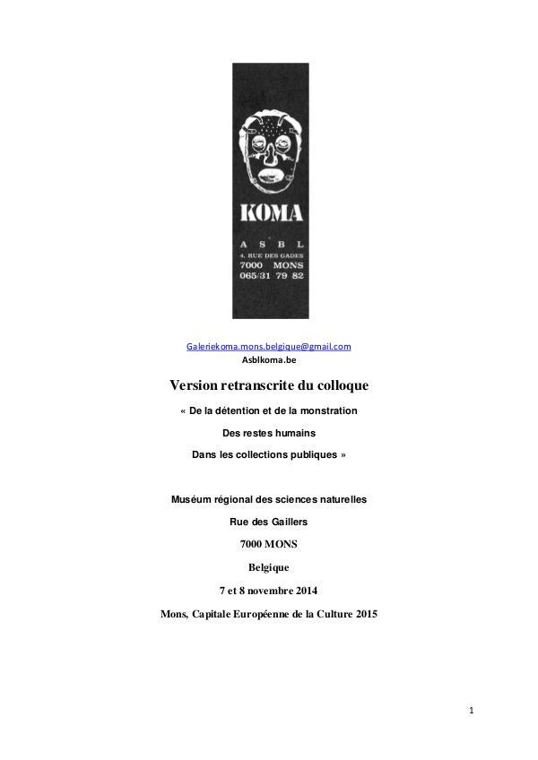 Colloque Julius Koma COLLOQUE corrigé le 4 juin 2017