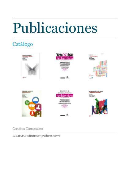 Catálogo de publicaciones 1
