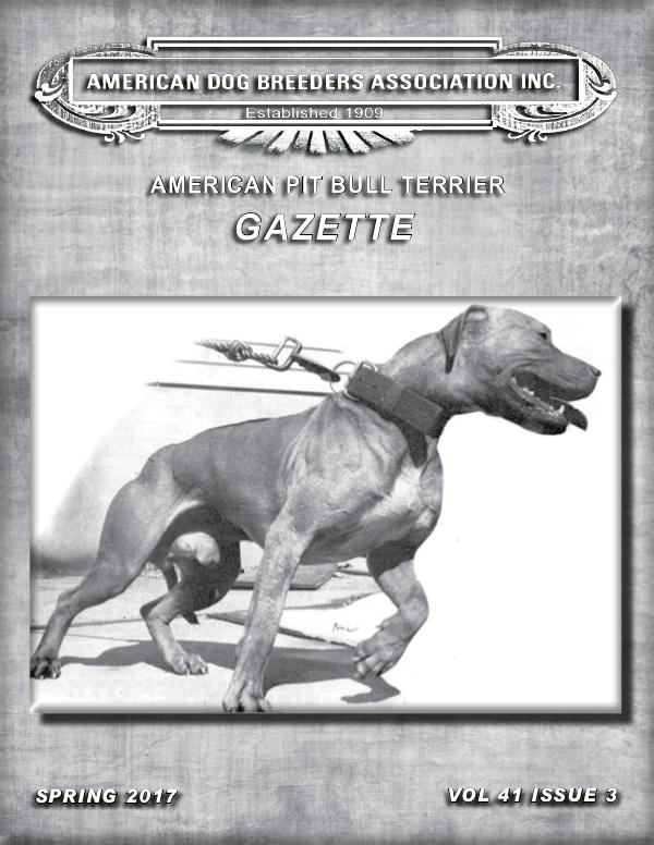 American Pit Bull Terrier Gazette Volume 41 Issue 3
