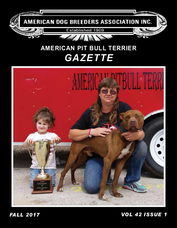 American Pit Bull Terrier Gazette Volume 42 Issue 1