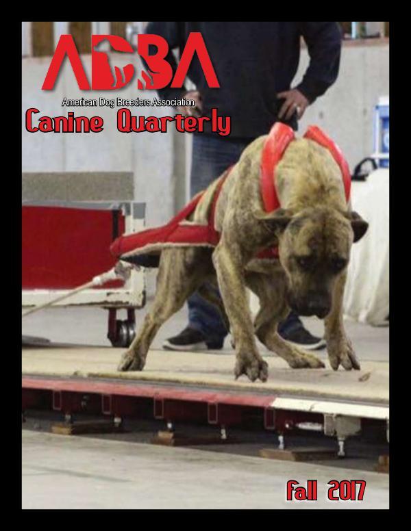 Canine Quarterly - ADBA Fall 2017