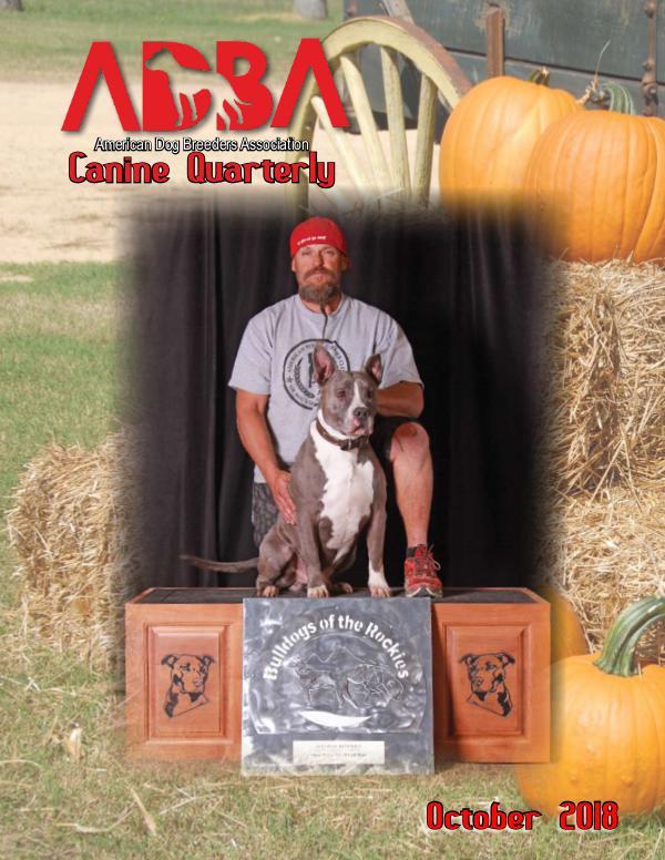 Canine Quarterly - ADBA CQ OCT 18