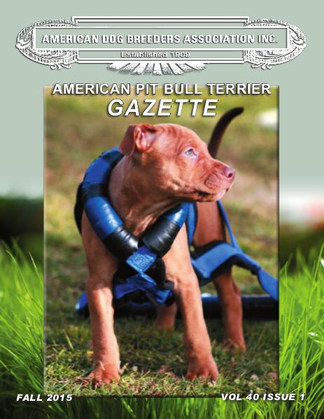 American Pit Bull Terrier Gazette Volume 40 Issue 1