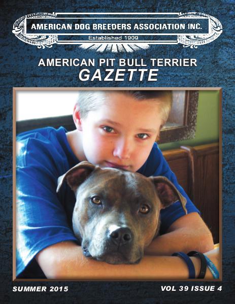 American Pit Bull Terrier Gazette Volume 39 Issue 4