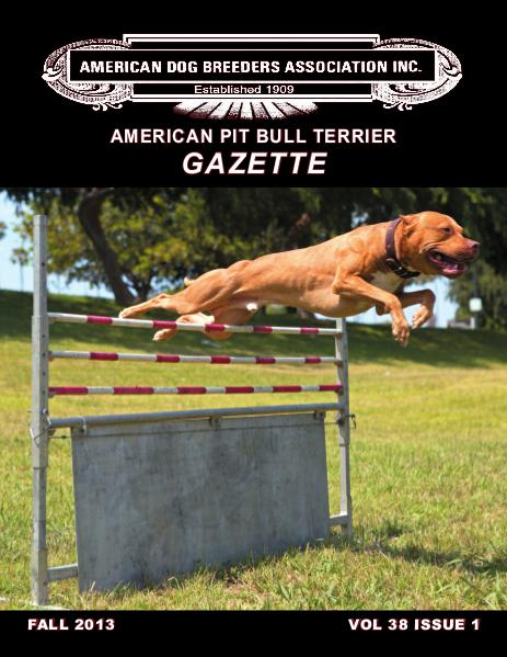 American Pit Bull Terrier Gazette Volume 38 Issue 1