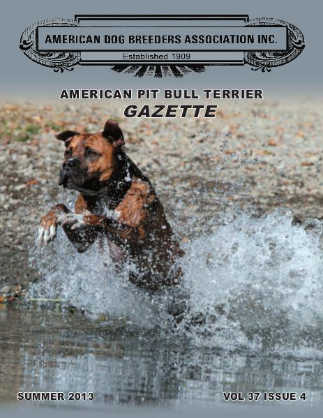 American Pit Bull Terrier Gazette Volume 37 Issue 4