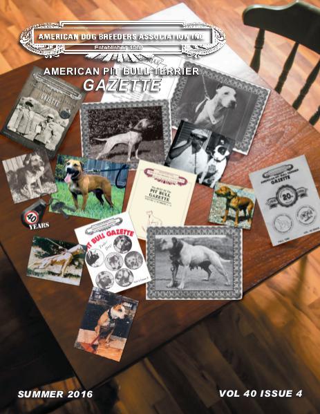 American Pit Bull Terrier Gazette Volume 40 Issue 4