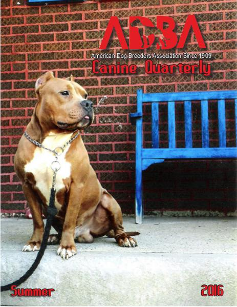 Canine Quarterly - ADBA Summer 2016