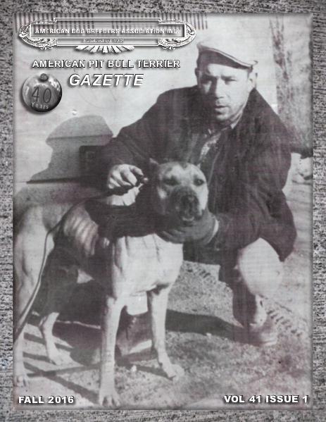 American Pit Bull Terrier Gazette Volume 41 Issue 1