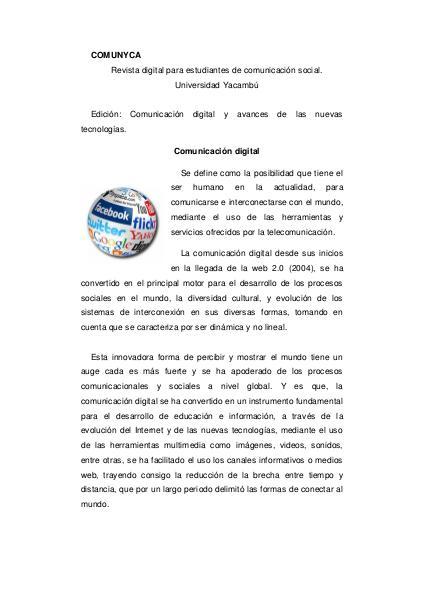 COMUNYCATE Revista especializada