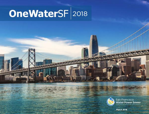 OneWaterSF 2018 Initiatives