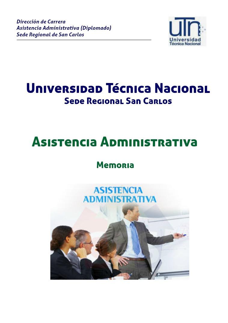 Asistencia Administrativa 1