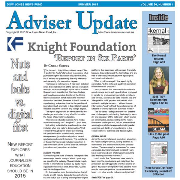 Adviser Update Summer 2015