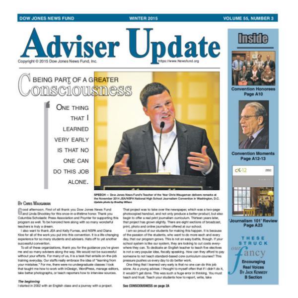 Adviser Update Winter 2015