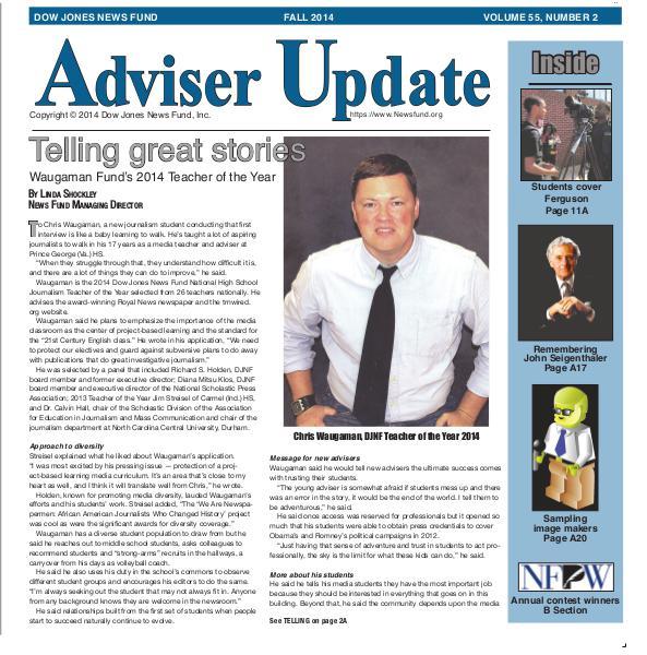 Adviser Update Fall 2014