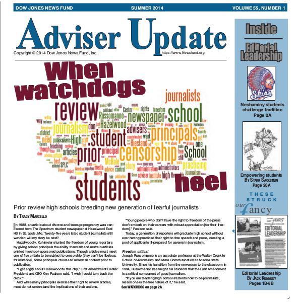 Adviser Update Summer 2014