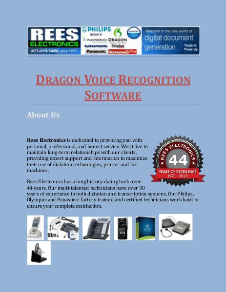 Dragon Voice Recognition Software Dragon Voice Recognition Software