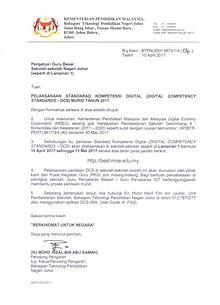 Surat Pelaksanaan DCS