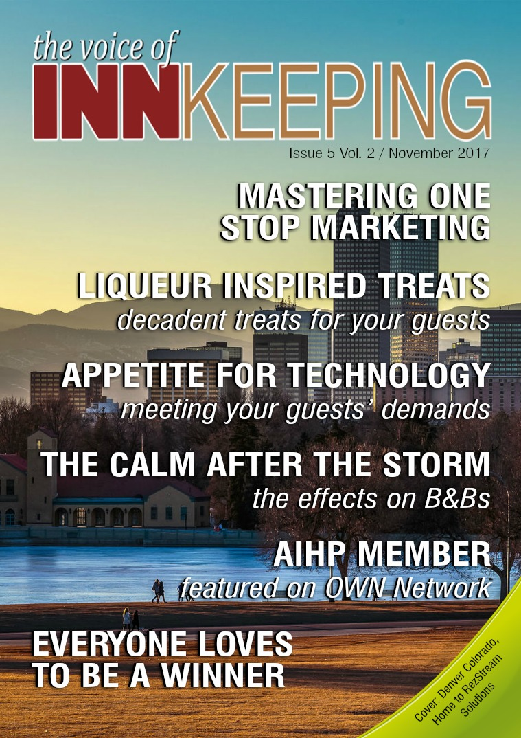 The Voice of Innkeeping Vol 2 Issue 5 November 2017