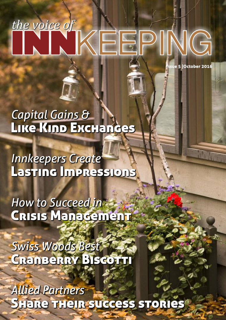 The Voice of Innkeeping Issue 5 Vol. 1 October 2016
