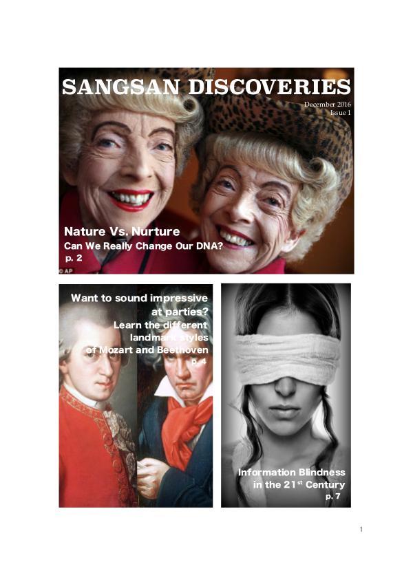 Sangsan Discoveries 1