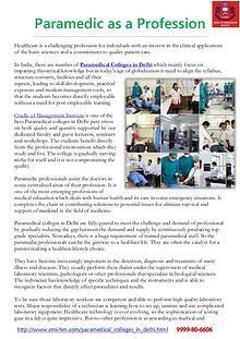 Paramedical Courses in Delhi-CMI