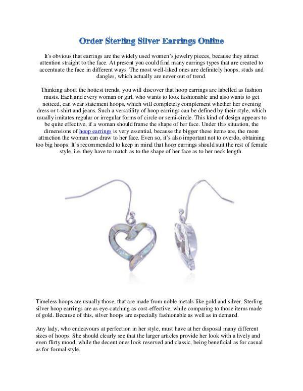 Order Sterling Silver Earrings Online 1