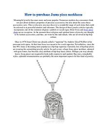 How to purchase Jesus piece necklaces