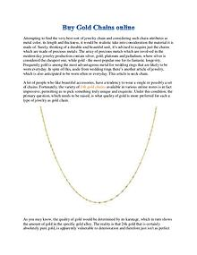 Buy Gold Chains online