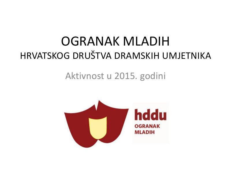 OMHDDU 3 Ogranak mladih HDDU-a u 2015. godini