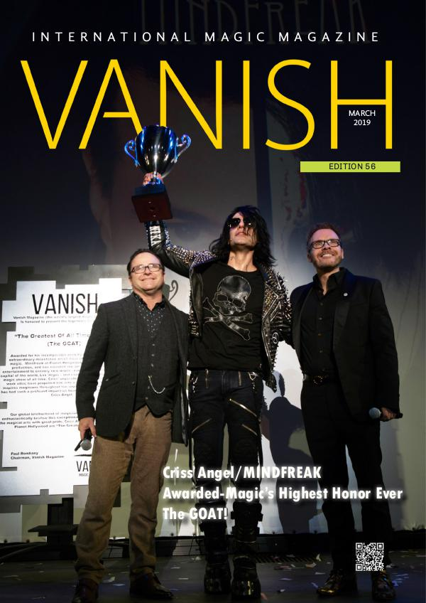 VANISH MAGIC MAGAZINE 56 March 2018