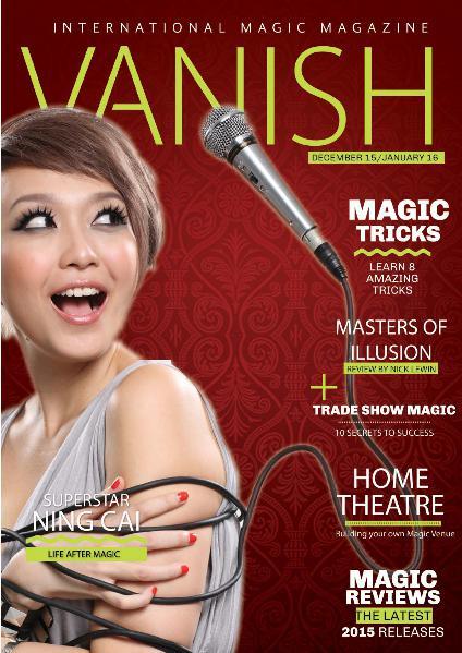 VANISH MAGIC BACK ISSUES Ning Cai