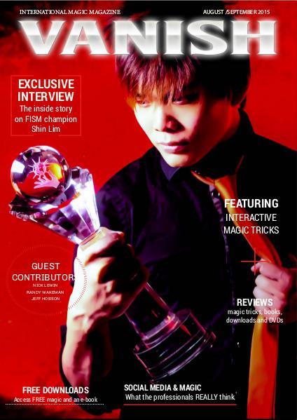 VANISH MAGIC BACK ISSUES Shin Lim