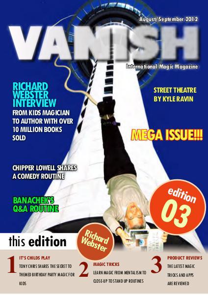 VANISH MAGIC BACK ISSUES Richard Webster