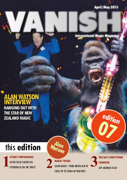 VANISH MAGIC BACK ISSUES Alan Watson