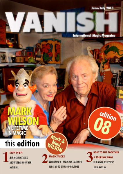 VANISH MAGIC BACK ISSUES Mark Wilson