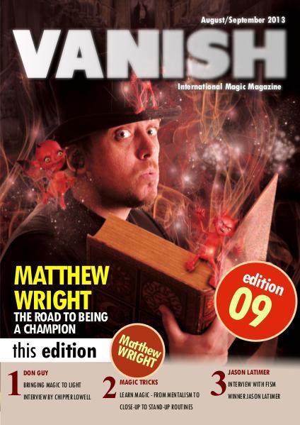 VANISH MAGIC BACK ISSUES Matthew Wright