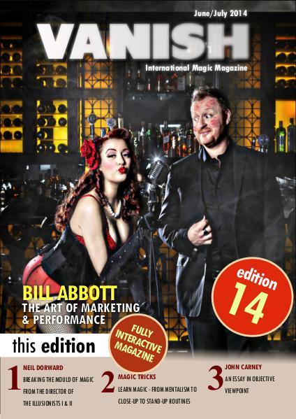 VANISH MAGIC BACK ISSUES Bill Abbott