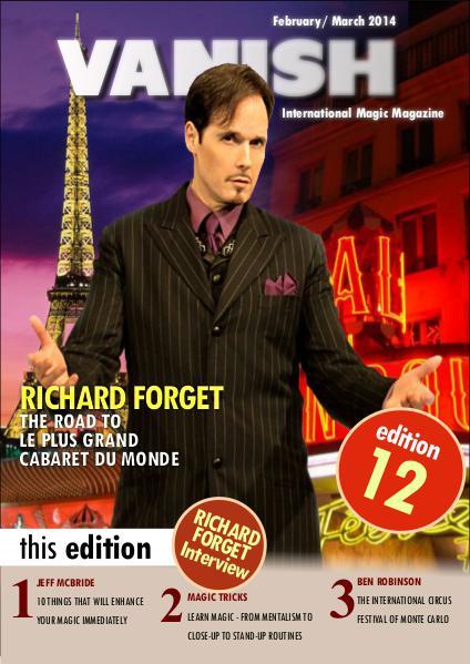 VANISH MAGIC BACK ISSUES Richard Forget