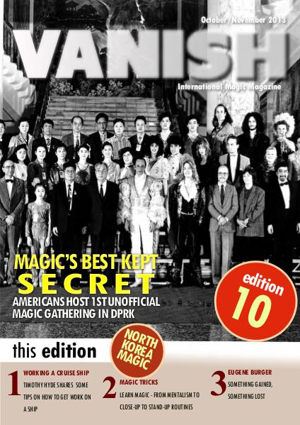 VANISH MAGIC BACK ISSUES Hal Myers and North Korea