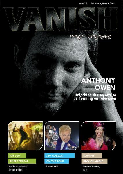 VANISH MAGIC BACK ISSUES Anthony Owen